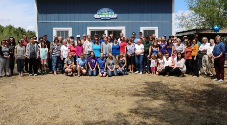 Community Celebrates Completion of Cassidy's Kitchen at Hart to Hart Farm in Albion (WGME ARTICLE)
